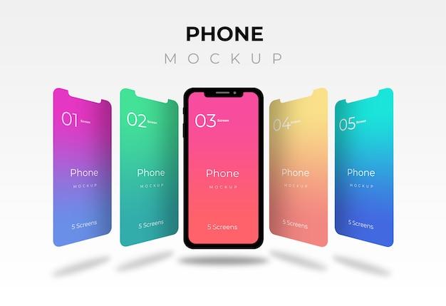 Mockup telefonico Psd Premium