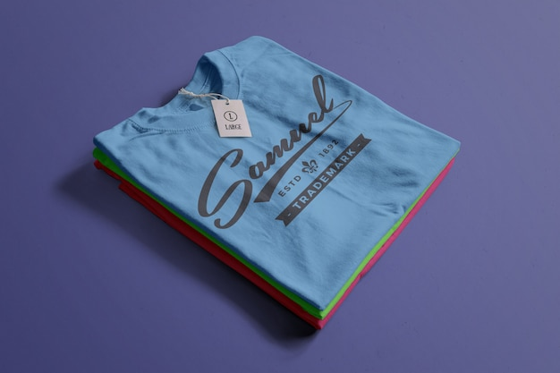 Mockup tshirt di colore Psd Gratuite