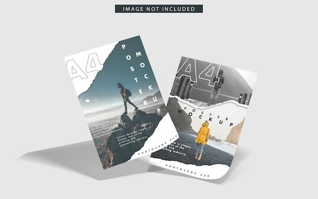 Mockup van a4-posters Premium Psd