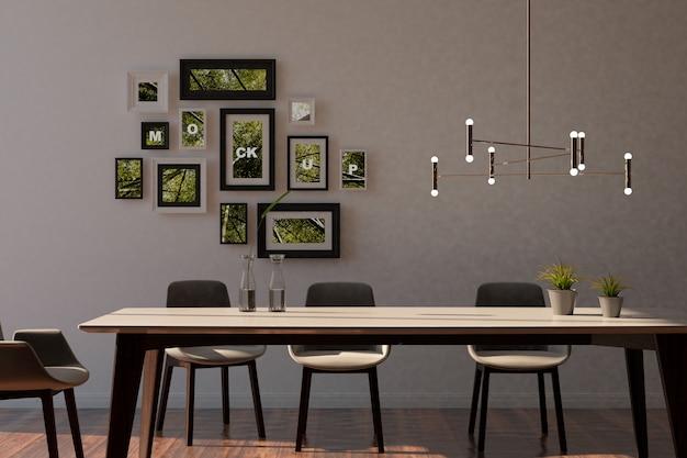 Mockup van frames in het interieur Gratis Psd