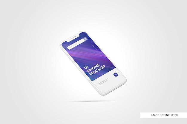 Mockup van mobiele telefoonscherm Premium Psd