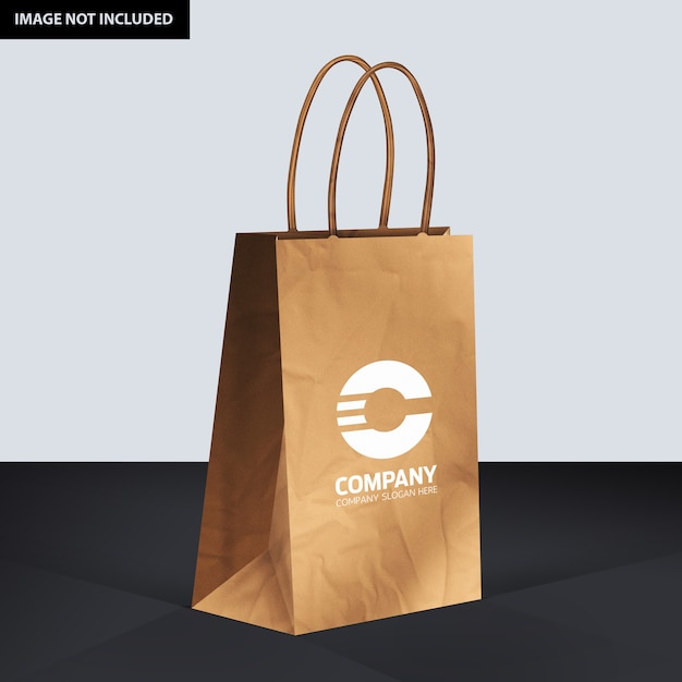 Mockup van papieren zak Premium Psd