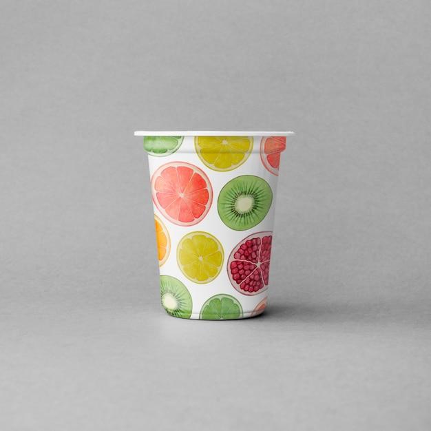 Mockup de vaso de yogur PSD gratuito
