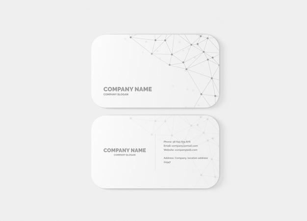 Mockup visitekaartje met 10 mm ronde hoeken Premium Psd