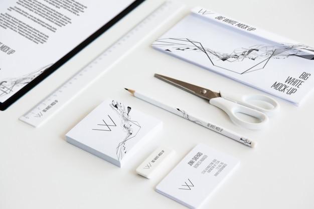 Mockup voor briefpapier Premium Psd