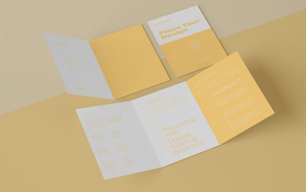 Mockup voor brochures Premium Psd