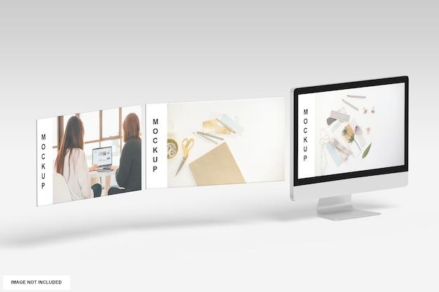 Mockup voor bureaubladscherm Premium Psd