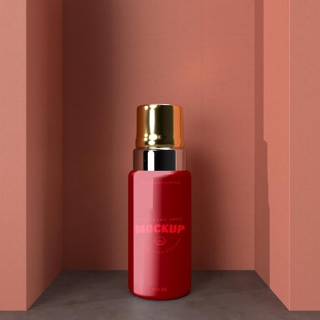 Mockup voor cosmetisch pakketontwerp. verpakkingen voor merkontwerp Premium Psd