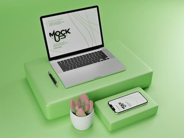Mockup voor digitaal apparaat geïsoleerd Premium Psd