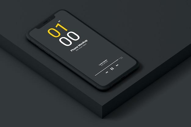 Mockup voor donkere telefoons Premium Psd
