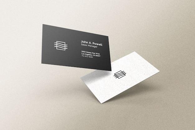 Mockup voor drijvend visitekaartje Premium Psd
