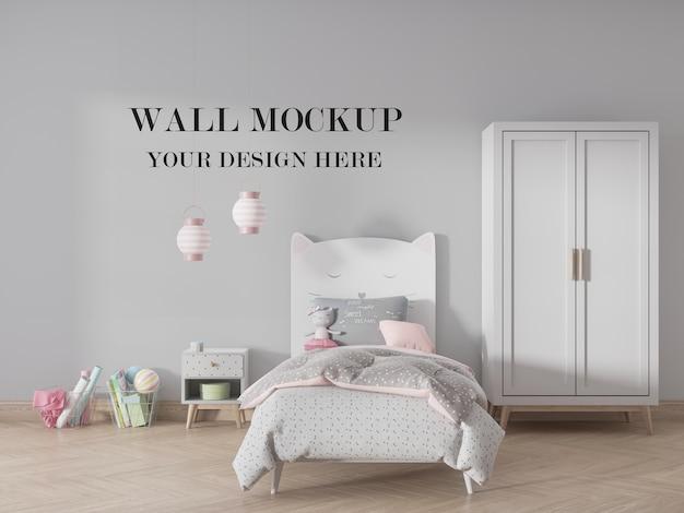 Mockup voor kinderkamer voor uw ontwerp Premium Psd