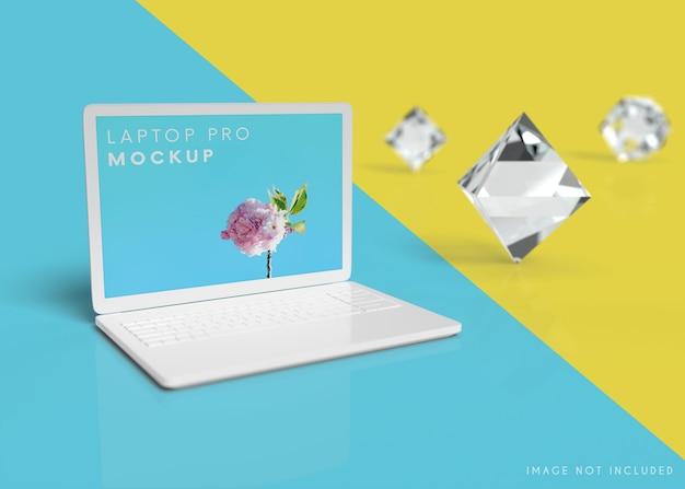 Mockup voor notebookcomputer Premium Psd