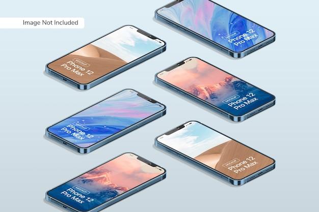 Mockup voor smartphone 12 pro max Gratis Psd