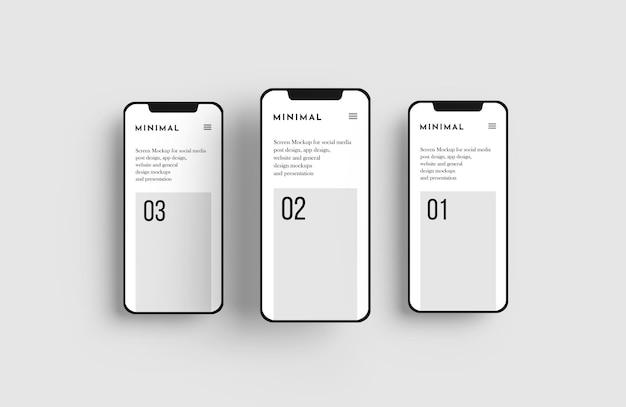 Mockup voor smartphonescherm Gratis Psd