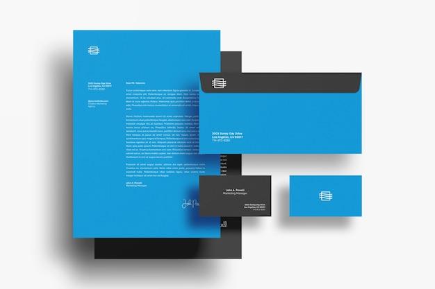 Mockup voor stationaire documenten Premium Psd