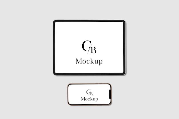 Mockup voor tablet en smartphone Premium Psd