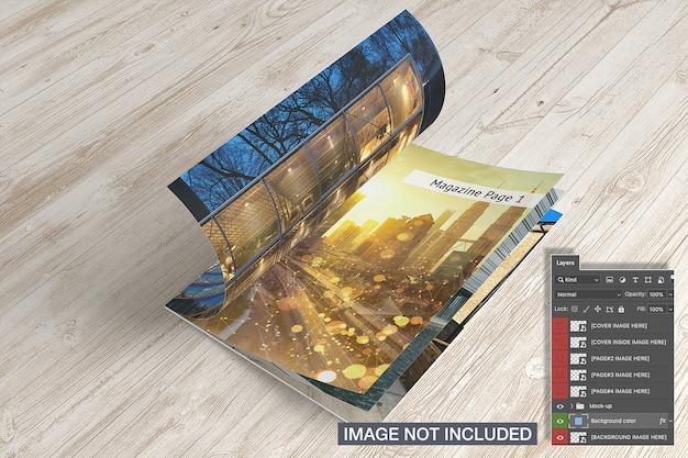 Mockup voor tijdschriften geopend Gratis Psd