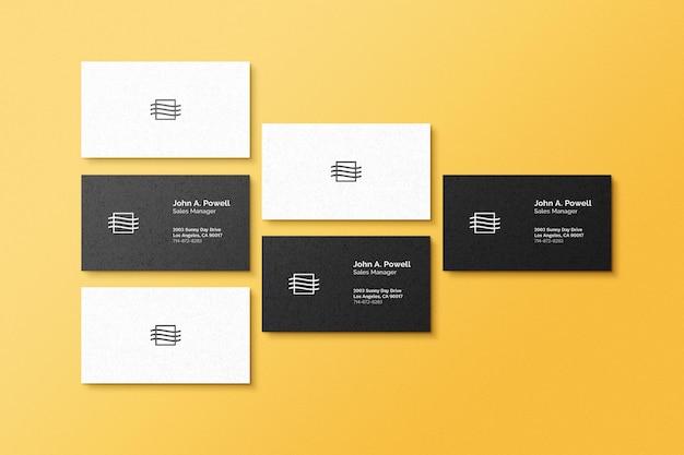 Mockup voor visitekaartjes Premium Psd