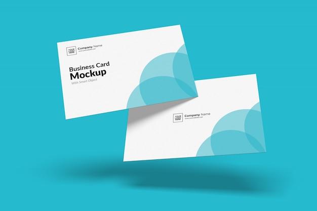 Mockup voor zwevende visitekaartjes Premium Psd