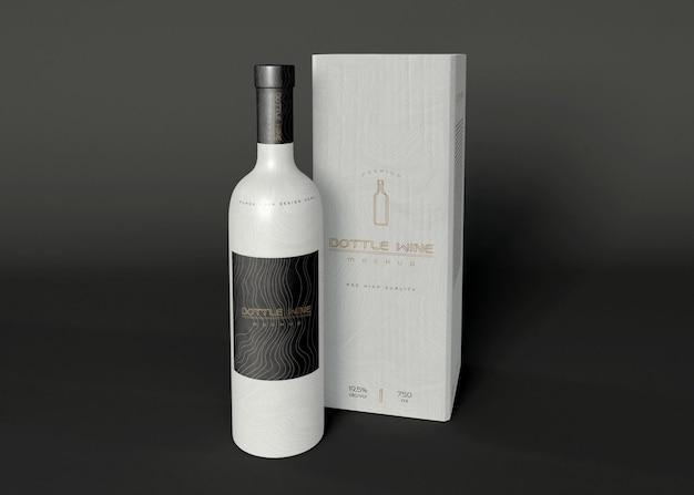 Mockups voor wijnverpakkingen Gratis Psd