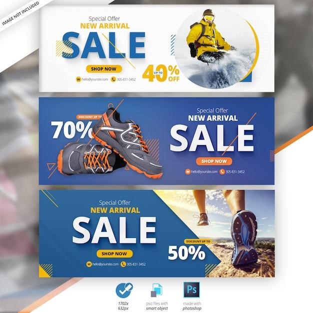 Moda vendita facebook timeline cover banner Psd Premium