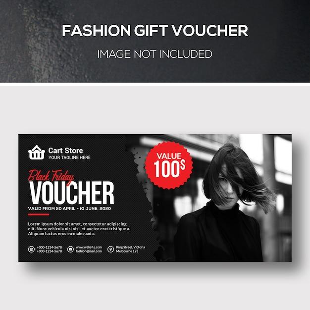 Mode cadeaubon Premium Psd