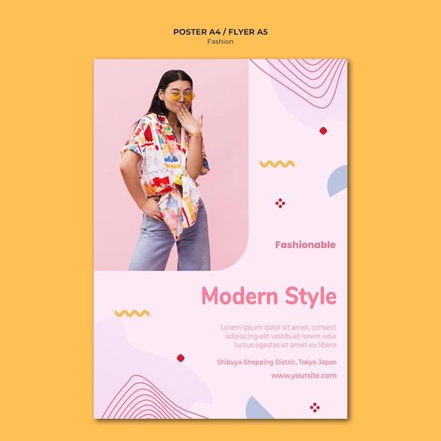 Mode collectie poster sjabloon Gratis Psd