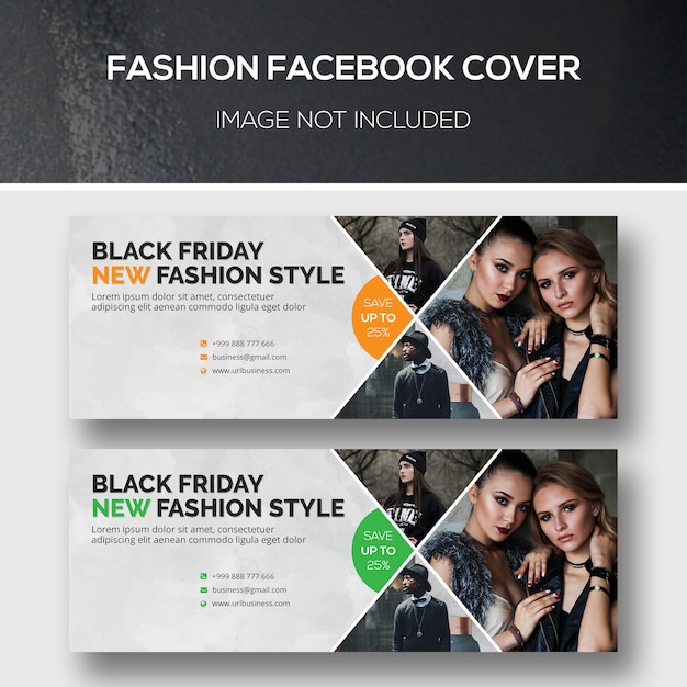 Mode facebook cover Premium Psd