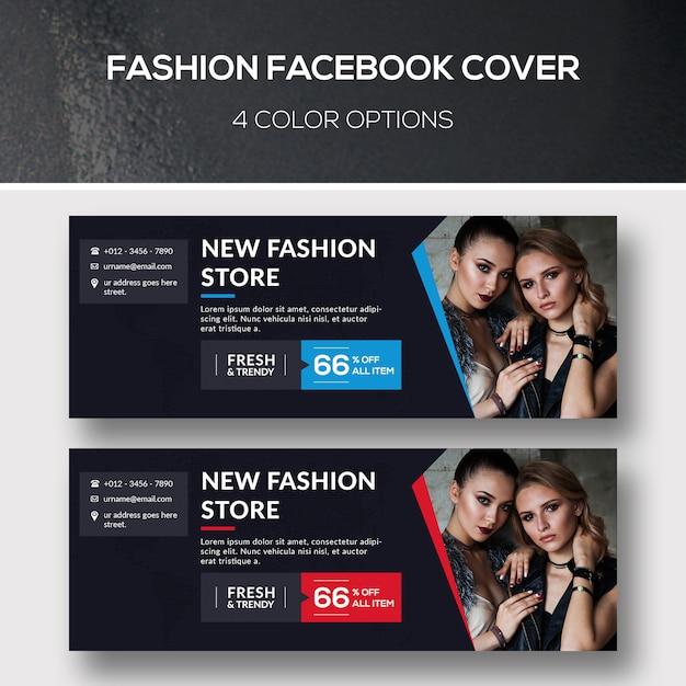 Mode facebook-dekking Premium Psd