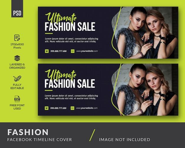 Mode facebook voorbladsjabloon Premium Psd