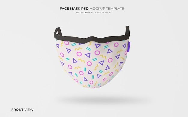 Mode gezichtsmasker mockup in vooraanzicht Gratis Psd