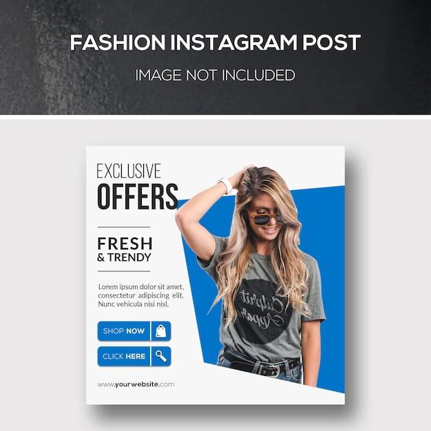 Mode instagram post Premium Psd