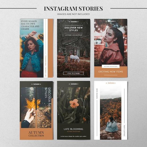 Mode instagram verhaalsjabloon Premium Psd