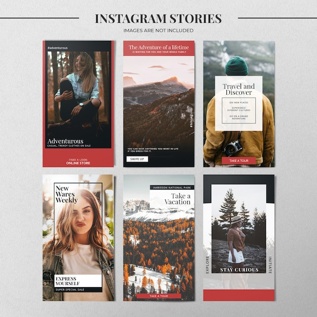 Mode instagram verhaalsjabloon Premium Psd
