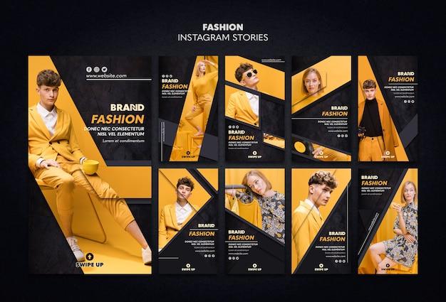 Mode instagram verhalen sjabloon Premium Psd