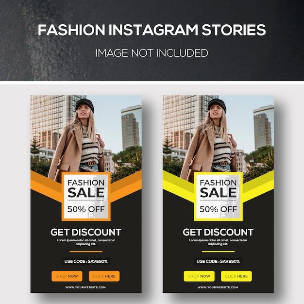 Mode instagramverhalen Premium Psd