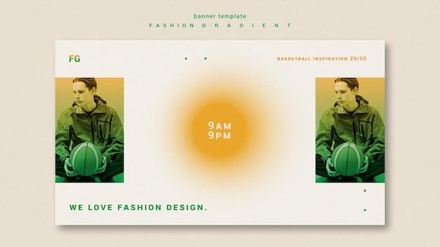 Mode kleurovergang horizontale banner Gratis Psd