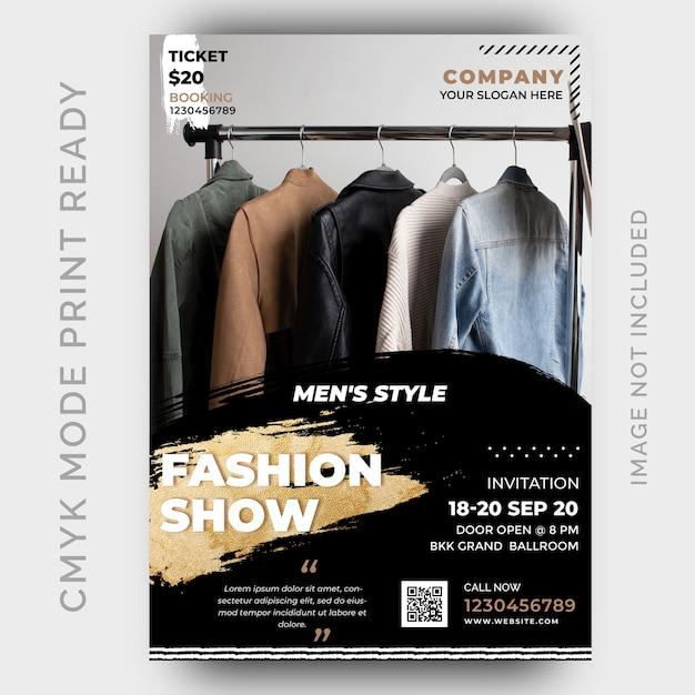 Mode korting verkoop flyer ontwerpsjabloon Premium Psd
