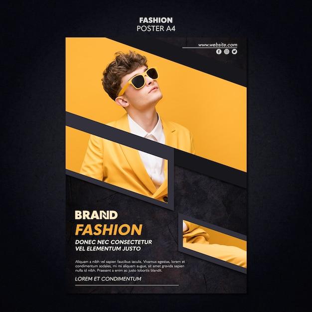 Mode poster sjabloonontwerp Gratis Psd