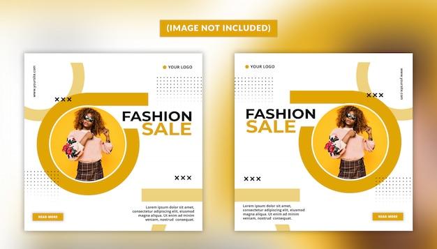 Mode social media post-sjabloon voor spandoek Premium Psd