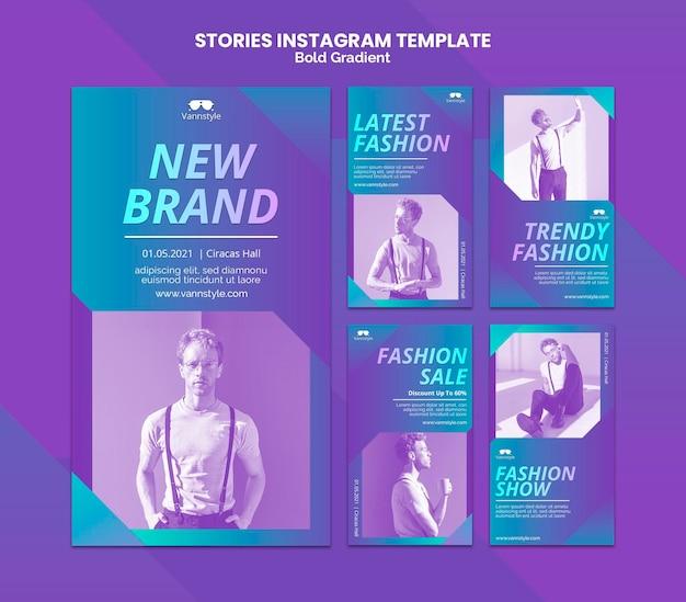 Mode verkoop instagramverhalen Premium Psd