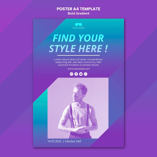 Mode verkoop poster Gratis Psd