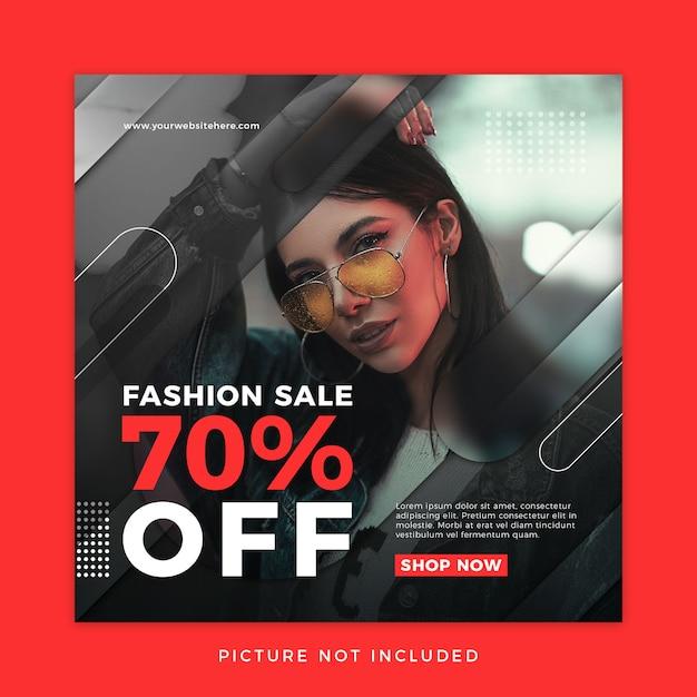 Mode verkoop social media sjabloon Premium Psd