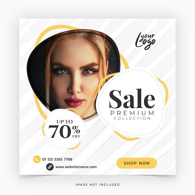 Mode verkoop sociale media banner Premium Psd