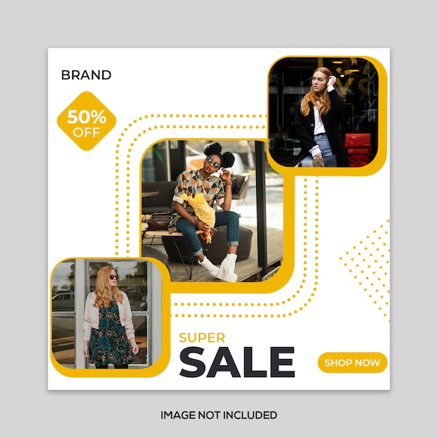 Mode verkoop vierkante banner Premium Psd