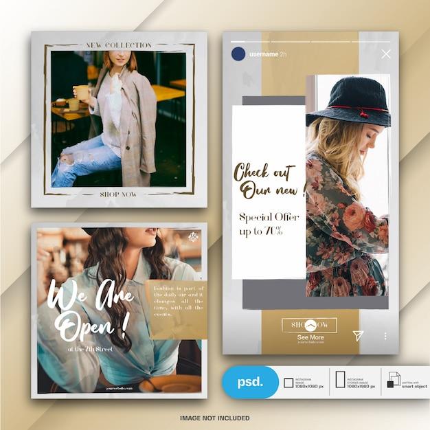 Mode webbanner social media-sjabloon Premium Psd