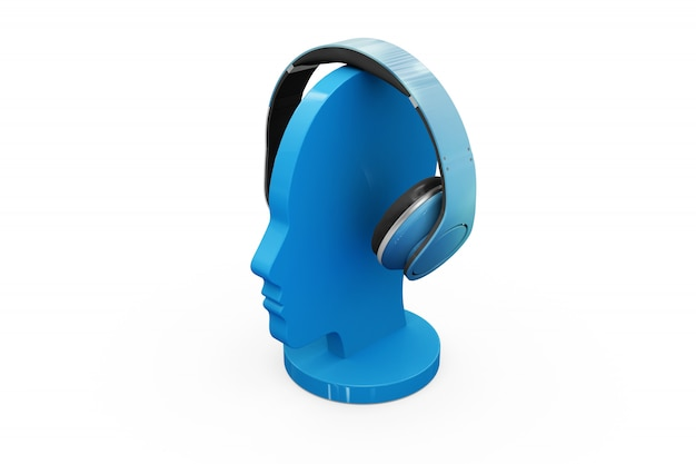 Model mock-up van koptelefoon Gratis Psd