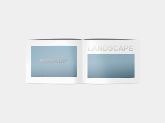 Model mockup a4-landschap Premium Psd