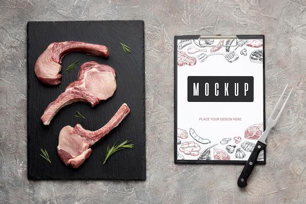 Model van gekruid rauw vlees Gratis Psd